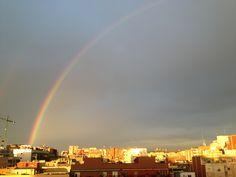 Arco iris en la ciudad