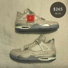 71dcb15a23e Nike Air Jordan Retro IV 2018 Laser Men s Basketball Shoes Size 14  fashion   clothing