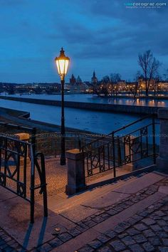 River bank of Vltava river in Prague, Czechia