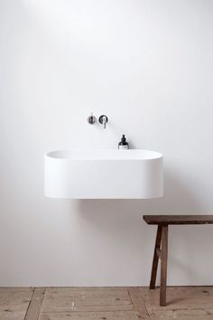 The perfect minimal bathroom washstand. On Baubauhaus.