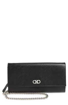 New Salvatore Ferragamo Saffiano Leather Wallet on a Chain fashion online. [$750]?@shop.seehandbags<<