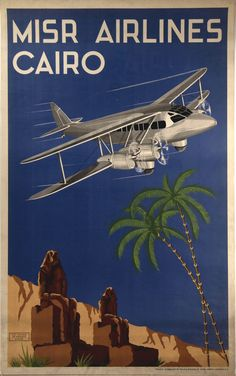 MISR Airlines Cairo, circa 1935. Smithsonian National Air and Space Museum.
