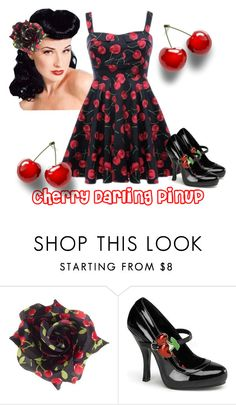 Cherry Darling Pinup by modern-grease on Polyvore featuring Pinup Couture and modern