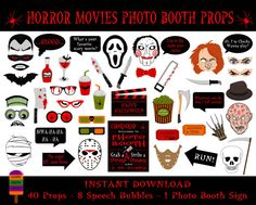 Hey, I found this really awesome Etsy listing at https://www.etsy.com/listing/201719368/horror-movies-photo-booth-props49-pieces