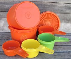 Who doesn't love the colors from tupperware past?!?