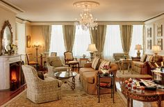 There's room to entertain while on vacation. Ritz-Carlton | New Orleans, Louisiana #interior #design #lisambiance