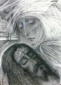 Pintura obsequiado por Kiko Argüello al Papa Francisco 2015