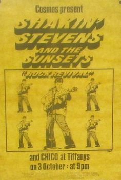 The Edinburgh Gig Archive - Tiffany's 1977  3rd October Shakin' Steven & The Sunsets, & Chico #stockbridgeedinburgh #stockbridge #edinburgh #scotland