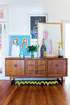 Australian artist Daimon Downeysin home in Sydney