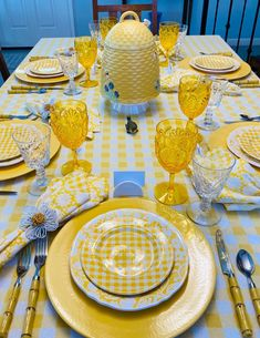 We Need some Brightness at the Table! — Whispers of the Heart Table Arrangements, Table Centerpieces, Table Decorations, Yellow Tablecloth, Table Place Settings, White Lanterns, White Napkins, Mellow Yellow, Tablescapes