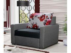 Křeslo WENECJA, černá látka/šedá látka Křeslo WENECJA Potahová látka: sawana 14 (černá látka)/sawana 21(šedá látka)/marakesh Materiál: rám z masivního dřeva s prvky dřevotřísky, vlnité pružiny Rozměry (dxšxv): 85 x 85 x 67 cm (s polštáři … Decor, Furniture, Love Seat, Chair, Home Decor, Armchair, Couch