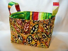 PK Fabric Basket in Healing Leaves  Storage Basket  by PKStuff, $14.50