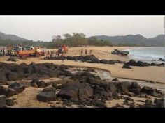 Terrible sight - sand mining on Sierra Leone's beautiful beaches.