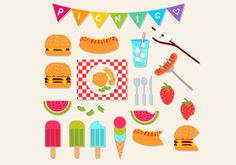 Picnic Icon Set -  Picnic themed icons, perfect for family picnic invitations, family reunions, and cute print media! AI, EPS, and JPG preview included.  - https://www.welovesolo.com/picnic-icon-set-7/?utm_source=PN&utm_medium=welovesolo%40gmail.com&utm_campaign=SNAP%2Bfrom%2BWeLoveSoLo