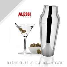 Una coctelera con un diseño muy prestigiado en Alessi.Diseñado por Ufficio Tecnico Alessi.
