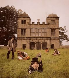 The Stones photo shoot for Beggers Banquet at Swarkestone Hall Pavilion. 1968