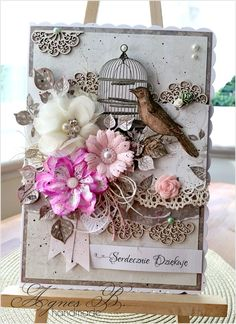 Thank you card by Agnes B. handmade:July 2015