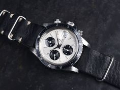 Tudor 'Big Block' 79170 Chronograph on B&S NATO. (Click on photo for high-res. image.) Photo found here: https://bulangandsons.com/portfolio_page/tudor-big-block-79170-chronograph/