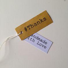 Tags Etichette Cartellini ringraziamento 10 pz. per le tue creazioni Handmade Thanks Grazie on Etsy, 2,00€