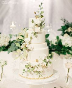 #Throwback to...yesterday? Why not! This garden-inspired cake crawling with vines is stunning �� See it all on ElegantWedding.ca! Cake: @amandafoongcakes | Planning: @fabfetemichelle | Flowers & Decor: @pwprincessweddings | Photo: @artiesestudios http://gelinshop.com/ipost/1522828832535704527/?code=BUiLMFBA3PP