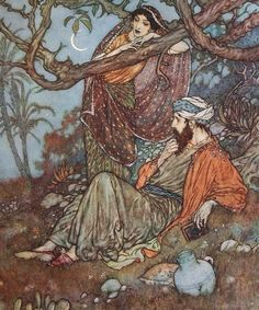 """Art Nouveau Pictures - These lovely pictures are in the public domain: EDMUND DULAC ILLUSTRATES """"THE RUBAIYAT OF OMAR KHAYYAM""""  1909"""