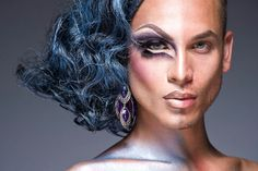 via Refinery 29, part of a series. Wonderful concept, gorgeous photography, amazing cheekbones. | Double Take: We Can't Stop Staring At These Half-Drag Portraits
