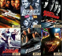 Fast & Furious Series with Paul Walker