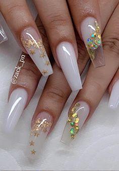 Nail Design Glitter, Cute Acrylic Nail Designs, Nails Design, Summer Acrylic Nails, Best Acrylic Nails, Spring Nails, Stylish Nails, Trendy Nails, Fire Nails