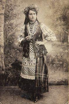 Україна. Дівчина з Великих Сорочинців.1918 р.