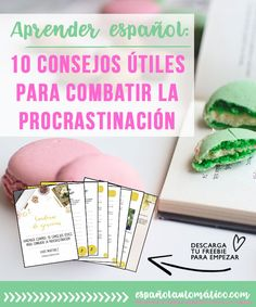 How to Learn Spanish: 10 Practical Ways To Stop Procrastination [+free workbook] How to learn Spanish if the distractions are all around us? Today let's talk about the procrastination and how it can really ruin our plan and slow down our personal development. But fear not! I share 10 practical tips to stop procrastinating and take your Spanish to the next level [+ freebie that will help you] . Apply these tips today and see how quickly your conversational Spanish is improving Repin for…