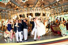 Carousel wedding portrait/Michelle Lindsay Photography