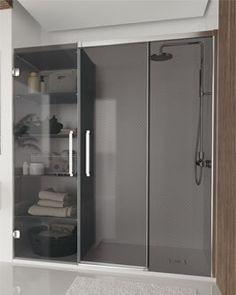 HIT - Mampara corredera Bathroom Medicine Cabinet, Ideas Para, Home Remodeling, Lockers, Locker Storage, Christmas Crafts, Furniture, Home Decor, Shower Base