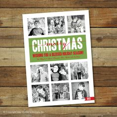 Custom photo Christmas card holiday card photo by saralukecreative