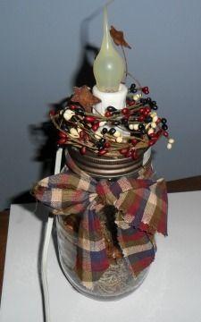 Mason Jar Country Lamp Silicone Bulb Electric