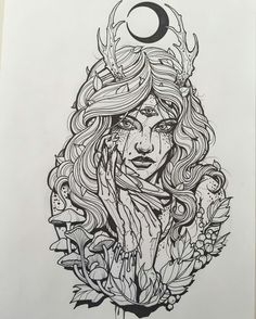 Sketches for tattoo Another collection of different sketches for future tattoos, for your tattoo master. In this collection you will find both masks of different fantastic creatures and just beautiful sketches Tattoo Sketches, Tattoo Drawings, Art Sketches, Art Drawings, Kunst Tattoos, Body Art Tattoos, Sleeve Tattoos, Wicca Tattoo, Witchcraft Tattoos