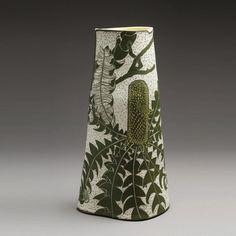 Pottery Shop, Pottery Bowls, Ceramic Pottery, Australian Native Flowers, Australian Art, Slab Ceramics, Porcelain Ceramics, Abstract Watercolor Art, Sgraffito