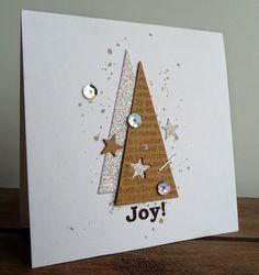 Make 65 ideas for Christmas cards yourself - Karten - Simple Christmas Cards, Homemade Christmas Cards, Christmas Cards To Make, Christmas Decorations To Make, Homemade Cards, Handmade Christmas, Tarjetas Diy, Creative Cards, Scrapbook Cards