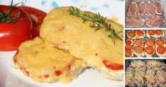 Pork baked with tomatoes and cheese / Culinary Universe Cheese Recipes, Cooking Recipes, Healthy Recipes, Pork Meat, Delicious Restaurant, Tomato And Cheese, Russian Recipes, Carne, Food And Drink