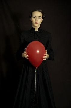 Available for sale from Arusha Gallery, Romina Ressia, Red Balloon Archival pigment print Artistic Fashion Photography, Fashion Photography Inspiration, Creative Photography, Fine Art Photography, Portrait Photography, Arusha, Fashion Art, Editorial Fashion, Fotografia Fine Art
