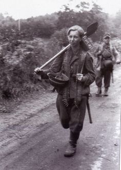 """Baby faced"" German infantryman toward the end of the war. Beginning in mid-1944, German males as young as 14 became liable for military service. During the last days of the Reich, boys as young as 12 and men in their 50s and even 60s found themselves on the front line."