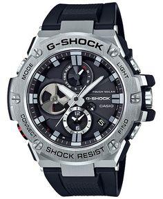 Casio Men's G-Steel by G-Shock Quartz Solar Bluetooth Connected Watch with Stainless-Steel Strap, Silver, (Model: - Watches Casio G-shock, Casio Watch, Men's Watches, Sport Watches, Luxury Watches, Watches For Men, Jewelry Watches, G Shock Watches Mens, Citizen Watches