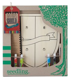 For young knights! Design your own personal shield and coat of arms. Seedling