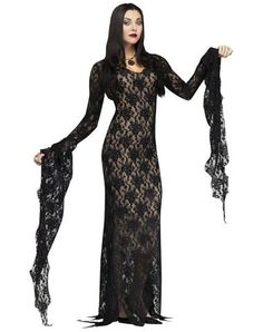 """""""Lady of the House (Morticia Addams)"""" dress Spirit Halloween"""
