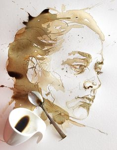 Sktchy art by Dominic Beyeler Portrait Sketches, Portrait Art, Art Sketches, Watercolor Sketch, Watercolor Portraits, Gcse Art Sketchbook, Sketching, Drawings Pinterest, Realistic Sketch