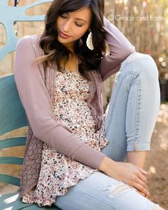Grace and Lace - Light Weight Two Fit Knit Cardigan, $56.00 (http://www.graceandlace.com/all/light-weight-two-fit-knit-cardigan/)