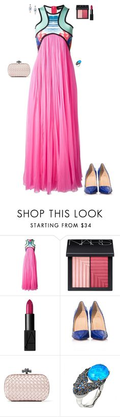 """""""Party at a friend's beach house"""" by stylev ❤ liked on Polyvore featuring Dsquared2, NARS Cosmetics, Christian Louboutin, Bottega Veneta, Été Swim and Stephen Webster"""