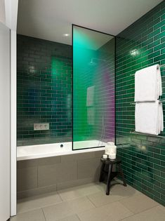 Iridescent shower by