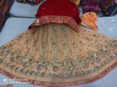 👉 Pure chinon creap lehnga 👉 Pure Georgette dupatta 👉 Gota pathi work jal all over lehnga 👉gota border lehnga and dupata 👉semi stitched without lining (More information WhatsApp no Bridal Nose Ring, Lehenga Collection, Tulle, Lunch, Pure Products, Skirts, Dresses, Fashion, Vestidos