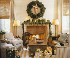 Picture of Elegance Blog: A Holiday Mantel