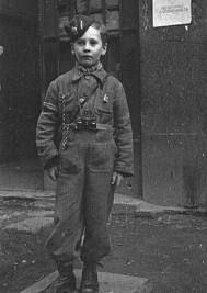 Young Polish boy scout